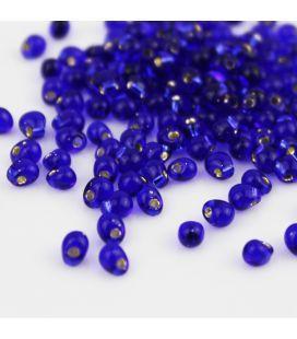 Miyuki Drop 3,4mm Trans Silver Lined Cobalt Blue - 10g