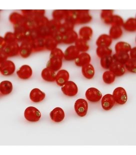 Miyuki Drop 3,4mm Trans Silver Lined Red - 10g