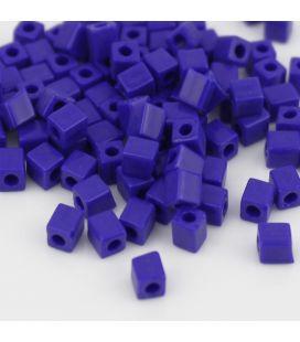 Miyuki Squares 4mm Opaque Cobalt -10g