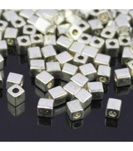 Miyuki Squares 4mm Metallic Silver -10g