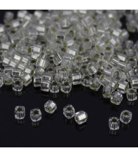 Miyuki Cube 1.8mm Silver Lined Crystal - 5g