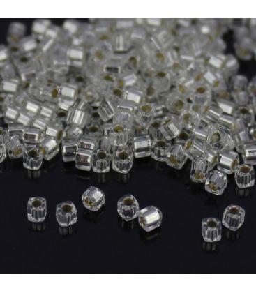 Miyuki Cube 1.8mm Silver Lined Crystal - 10g