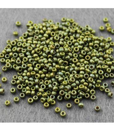 Miyuki Round 11 Fancy Frosted Light Olive/Olive Iris - 10g