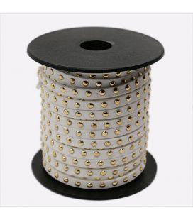Rzemień zamszowy z ćwiekami 5mm - 1m
