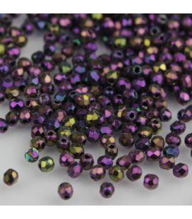 Fire Polish 2mm Iris Purple - 2g