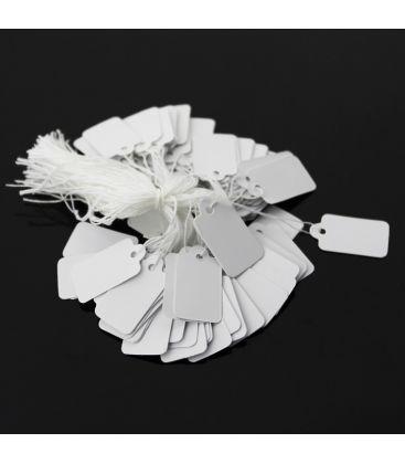 Etykiety jubilerskie na sznurku 20x13mm - 100szt