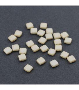 CzechMates Tile Bead 6mm Luster Opaque Biege - 60szt
