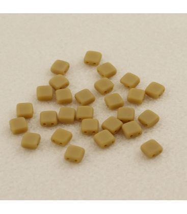 CzechMates Tile Bead 6mm Matte - French Biege - 60szt