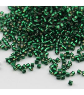 TOHO Hexagon 11/0 Silver-Lined Green Emerald