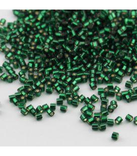 TOHO HEXAGON 11/0 Silver-Lined Green Emerald - 30g