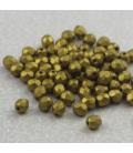 Beads Fire Polish 4 mm Matte Metallic Aztec Gold