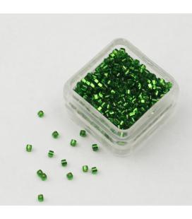 Miyuki Cube 1.8mm Silver Lined Green - 5g