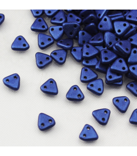 Triangle 6mm Metallic Suede Blue - 10g
