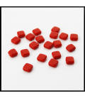 CzechMates Tile Bead 6mm (loose) Opaque Red - 60szt