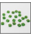 CzechMates Tile Bead 6mm (loose) Gold Marbled Green Emerald - 60szt