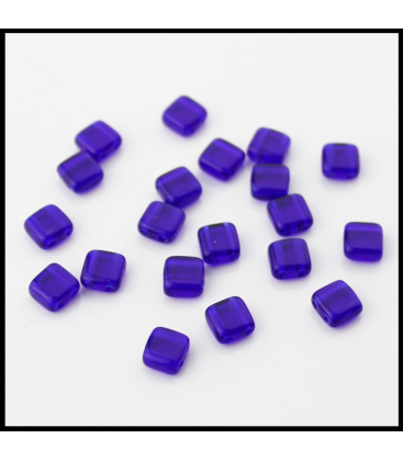 CzechMates Tile Bead 6mm (loose) Cobalt - 60szt