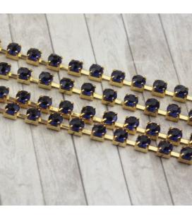 Łańcuszek z cyrkoniami 3,5x3,5mm - 10cm