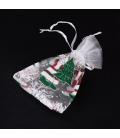 Opakowanie świąteczne z organzy ozdobne 85x125mm - 3szt