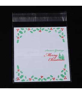 Opakowanie świąteczne foliowe ozdobne 95x105mm - 10szt