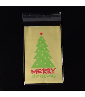 Opakowanie świąteczne foliowe ozdobne 90x145mm - 10szt
