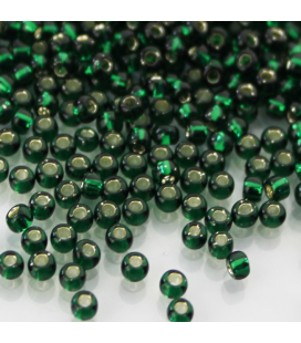 TOHO Round 8/0 Silver-Lined Green Emerald - 30g