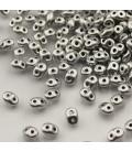 SuperDuo 2.5x5mm Matte-Metallic Silver - 10g