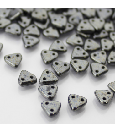 CzechMates Triangle 6mm Hematite - 10g