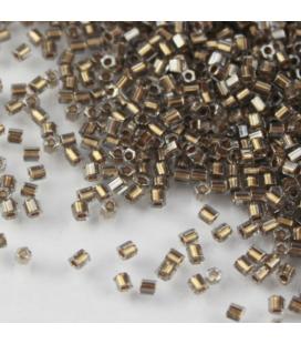 TOHO Hexagon 11/0 Gold-Lined Black Diamond - 30g