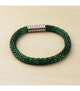 Bransoletka w jaskrawym zielonym  kolorze