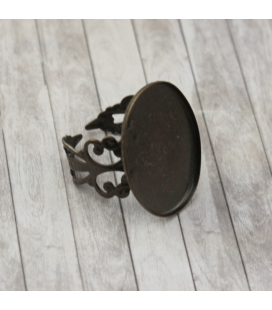 Baza do pierścionka 25x18mm - 1szt