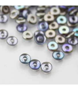 O-BEAD 2x4mm Crystal Graphite Rainbow - 5g