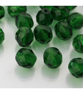 Fire Polish 8mm (loose) Green Emerald - 30szt