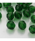 Fire Polish 8 mm Green Emerald