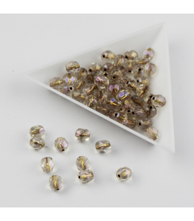 Fire Polish 6mm Copper-Lined Crystal AB