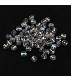 Fire Polish 8mm Silver-Lined Crystal AB - 30szt
