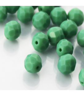 Fire Polish 8mm (loose) Green Turquoise - 30szt