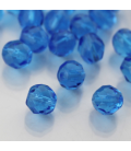 Fire Polish 8mm (loose) Aquamarine - 30szt