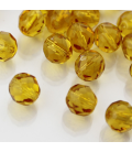 Fire Polish 8mm (loose) Mid Topaz - 30szt