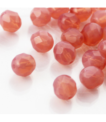 Fire Polish 8mm (loose) Milky Pink - 30szt