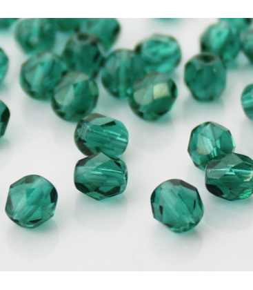 Fire Polish 6mm  Emerald
