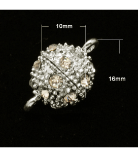 Zapięcie z cyrkoniami magnetyczne 10mm - 1szt