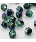 Fire Polish 6mm (loose) Blue Iris Emerald - 60szt