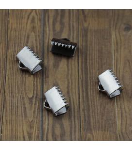 Zaciski ze stali szlachetnej z ząbkami 11x7mm - 4szt