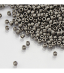 TOHO Round 8/0 Metallic Frosted Antique Silver - 30g