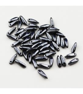 Dagger Beads 3/10mm Hematite - 10g