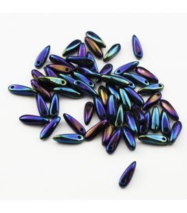 Dagger Beads 3/10mm Iris-Blue - 10g
