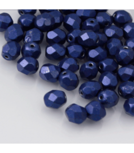 Fire Polish 6mm ColorTrends: Saturated Metallic - Lapis Blue