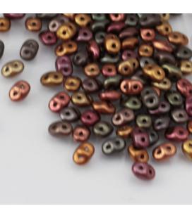 SuperDuo 2.5x5mm Matte - Metallic Bronze Iris - 10g