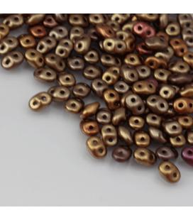 SuperDuo 2.5x5mm Matte - Metallic Gold Iris - 10g