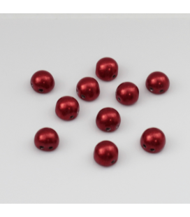 CzechMates Cabochon 7mm Matte - Saturated Metallic Aurora Red - 10szt